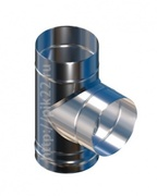 Тройник нерж.0,5 мм. угол 90 d115/150
