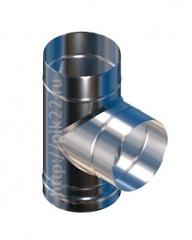 Тройник нерж.0,8 мм. угол 90 d115/150