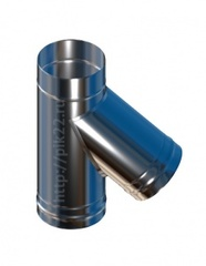 Тройник нерж.0,8 мм. угол 45 d115/150