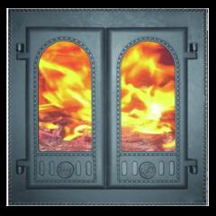 """Дверка каминная ДК-6С """"Горница"""" со стеклом"""