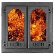 """Дверка каминная """"Горница""""- 2 со стеклом"""