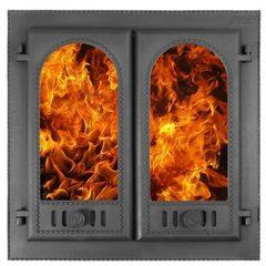 """Дверка каминная ДК-8С """"Горница""""- 2 со стеклом"""