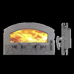 """Дверка каминная герметичная """"Зной"""" со стеклом"""