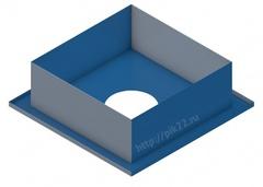 Потолочная разделка 0,5 мм. 500*500 d115/150/200/230